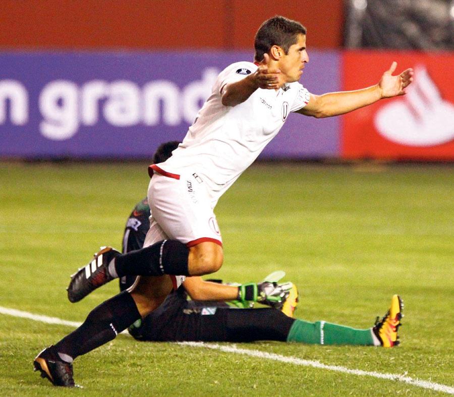 n Aldo Corzo fue el mejor jugador del partido al anotar dos goles, pero no alcanzó.
