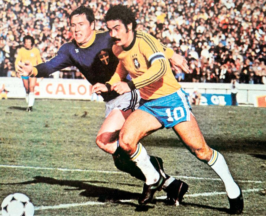 Brasil con Rivelino como capitán ocupó el tercer lugar