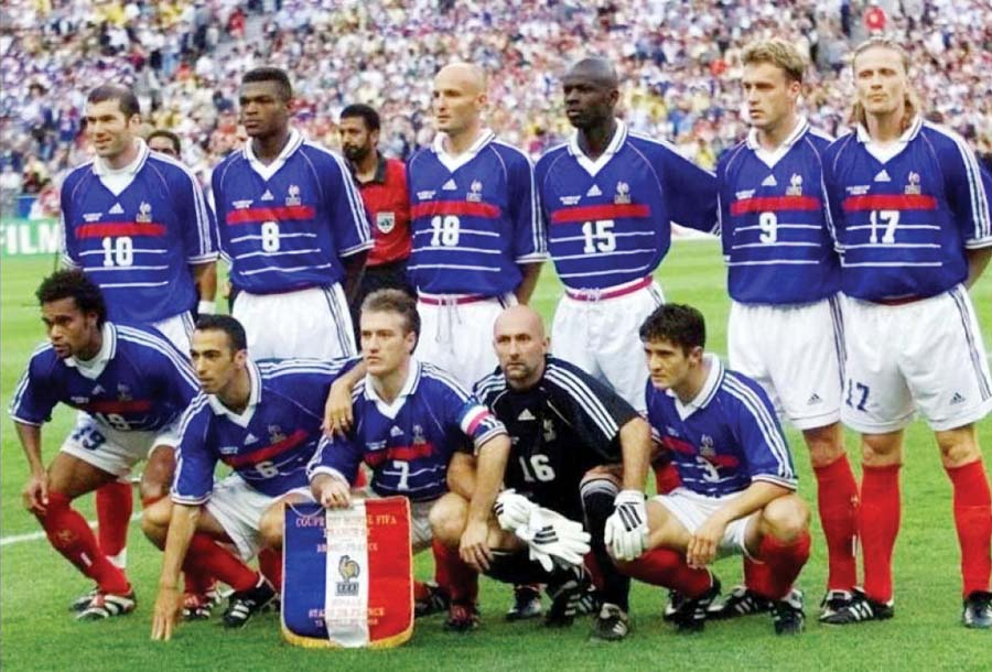 Esta es la selección francesa que por primera vez logró el título en un mundial