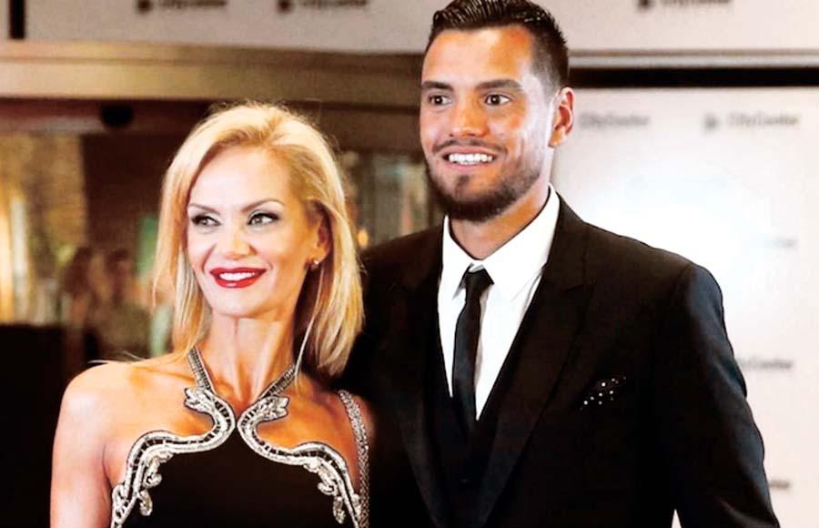 Sergio Romero y su esposa Eliana Guercio