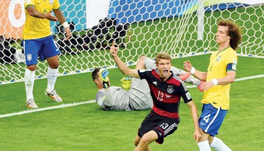 Los alemanes le metieron siete goles a Brasil