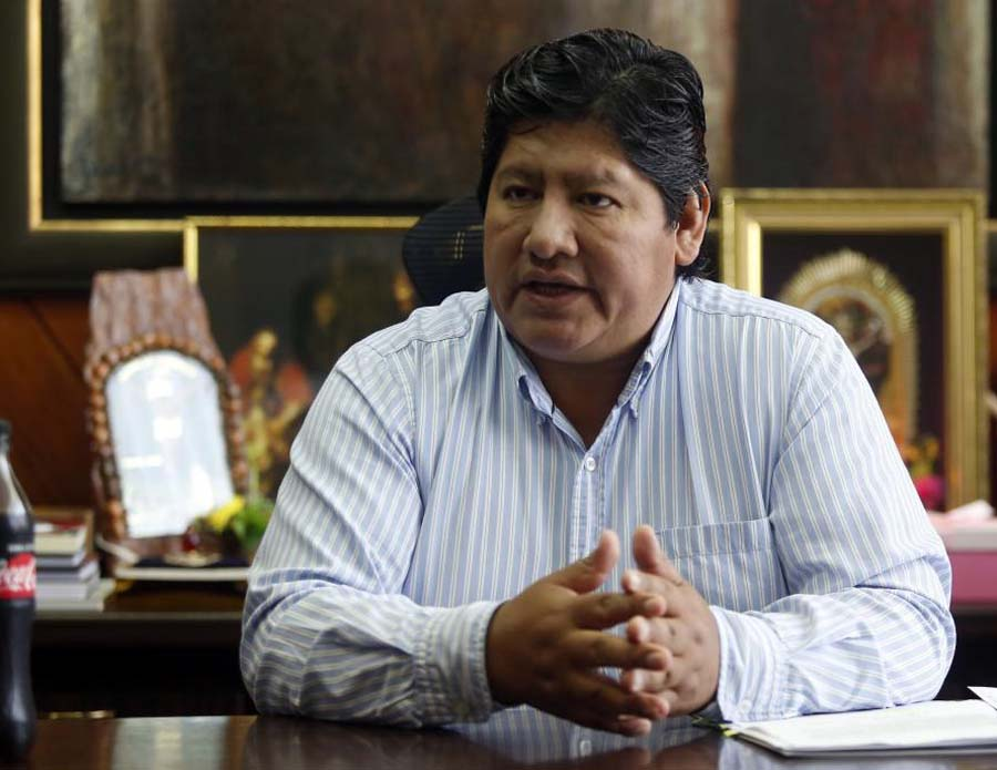 Presidente de la Federación Peruana de Fútbol (FPF), Edwin Oviedo