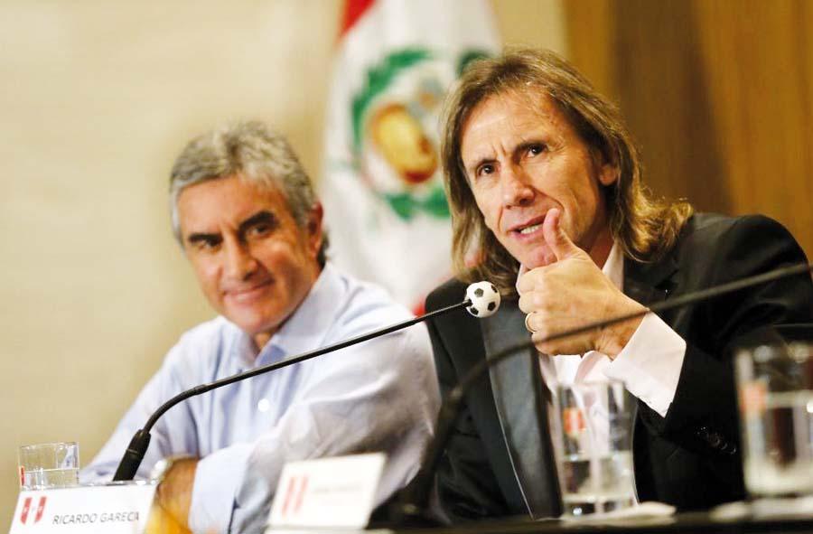 Juan Carlos Oblitas y Ricardo Gareca