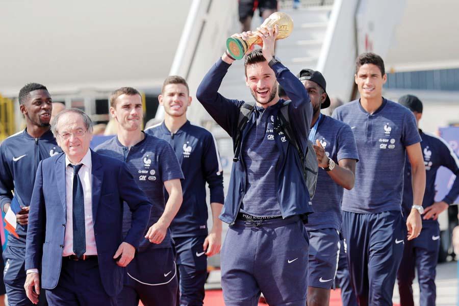 Llegada selección francesa