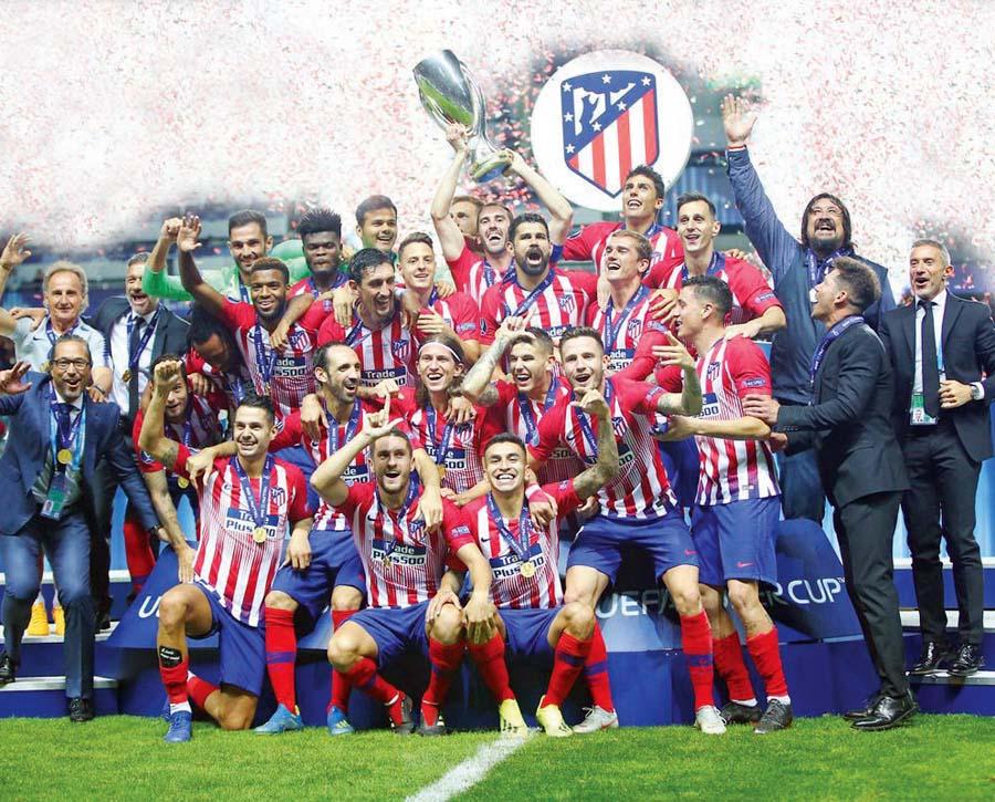 Colchoneros' se llevaron la Supercopa de Europa al vencer 4-2 al Real Madrid