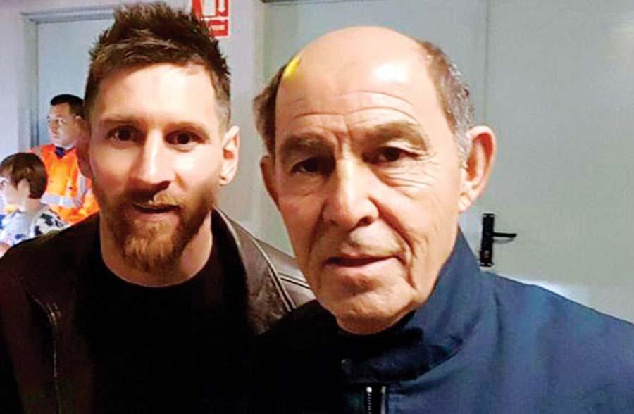 Lionel Messi y Ricardo Bochini