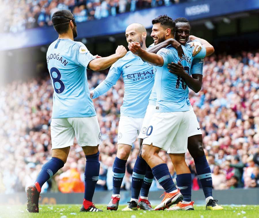 Manchester City goleó 6-1 al Huddersfield