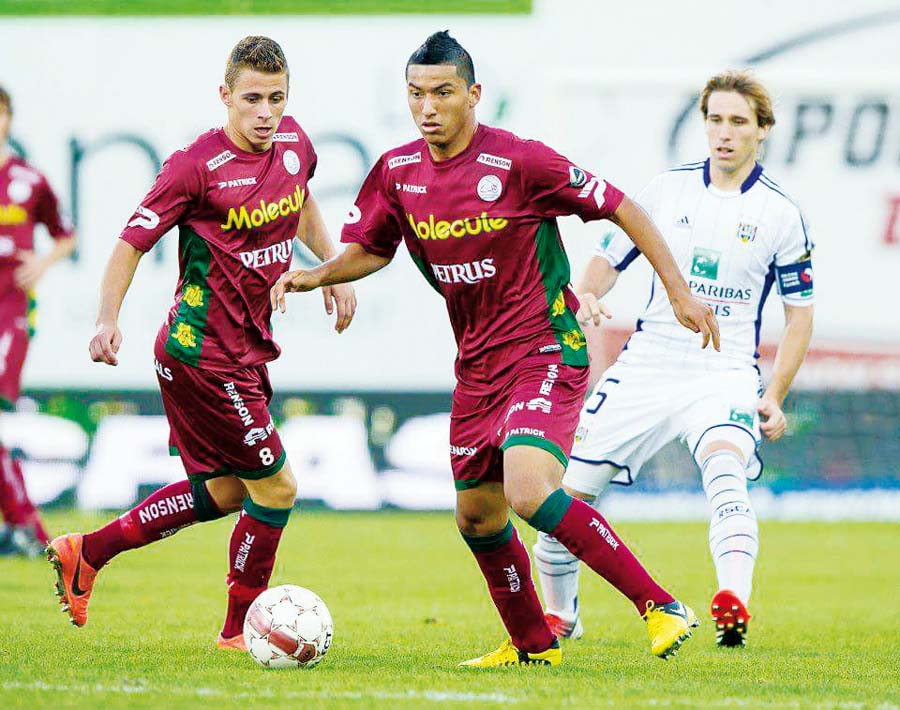 El 'Churrito' también defendió la camiseta del SV Zulte Waregem de Bélgica