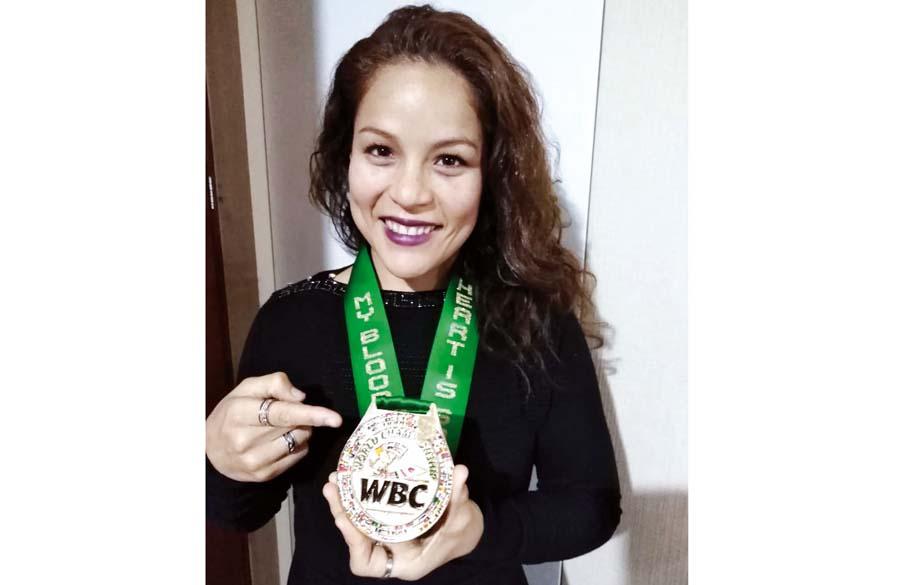 Linda Lecca, pugilista peruana