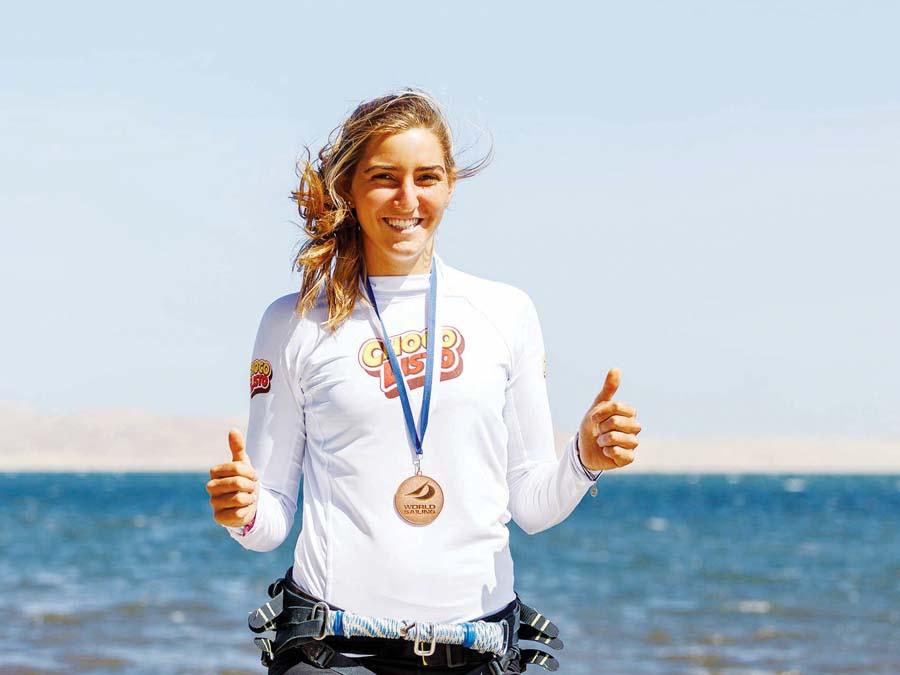 María Belén Bazo, campeona sudamericana de Windsurf