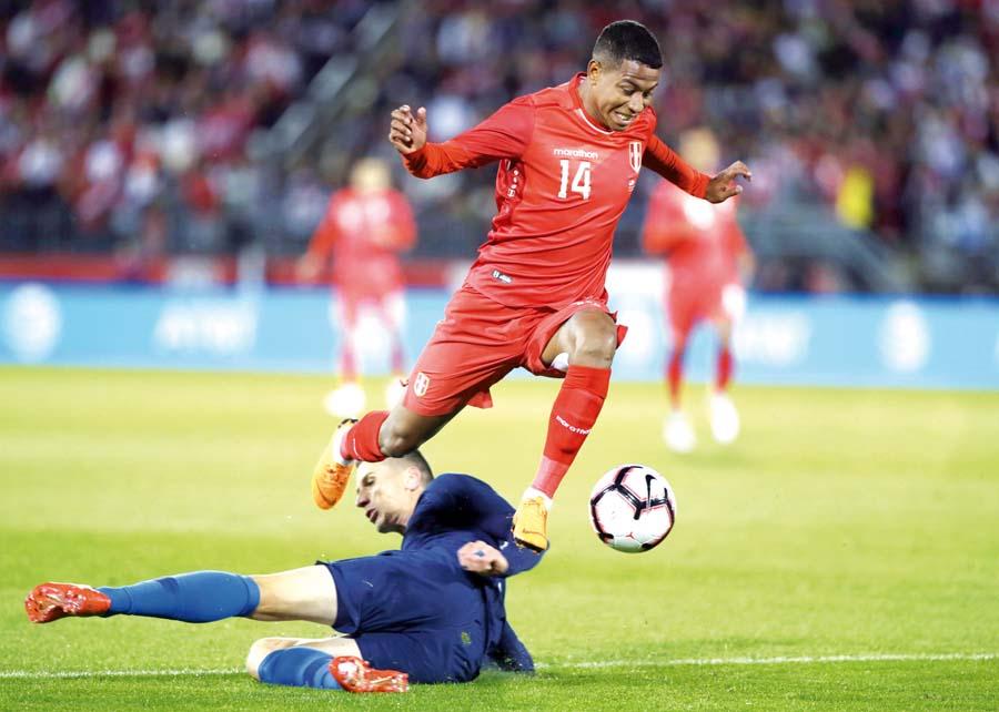 Polo jugó bien, al igual que Flores, quien hizo el gol peruano