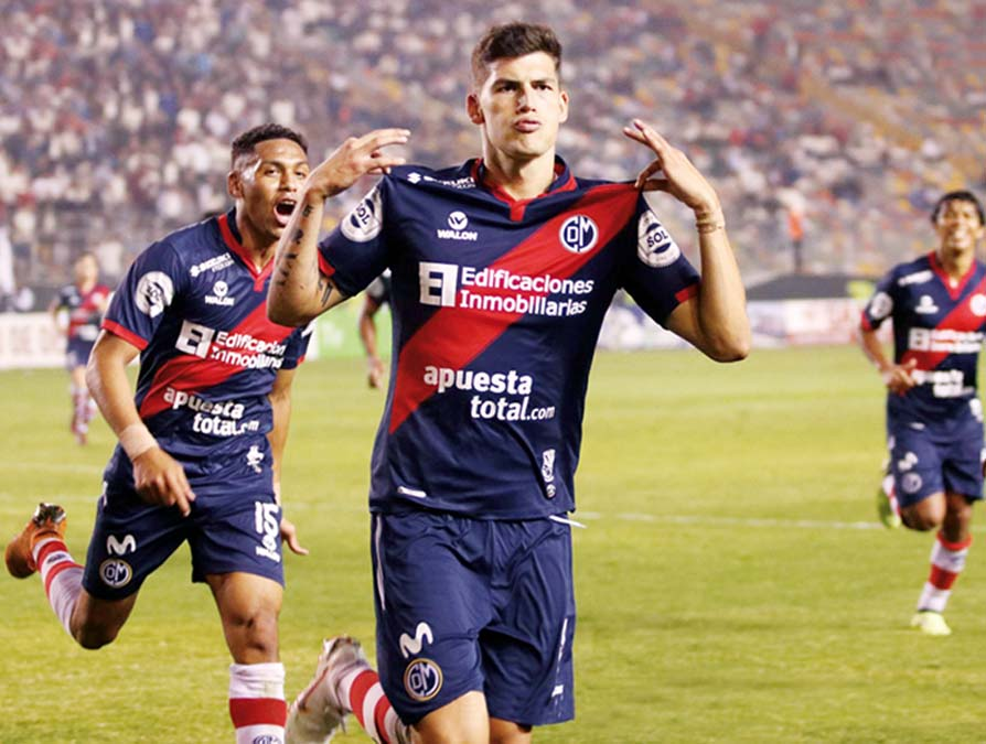 Iván Bulos volvió al gol en el cuadro de la franja. Fue el transitorio 1-1