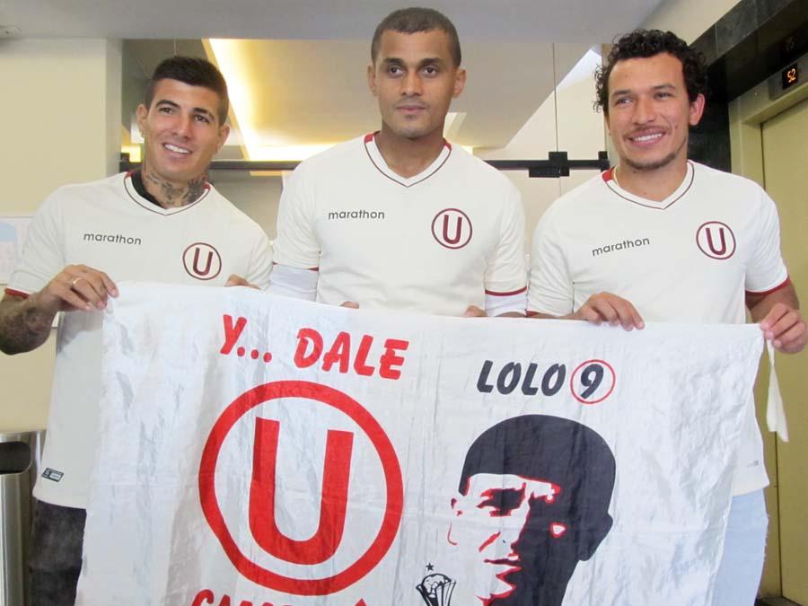 Alfageme, quina y correa fueron presentados como nuevos jugadores de la 'U' para la campaña 2019