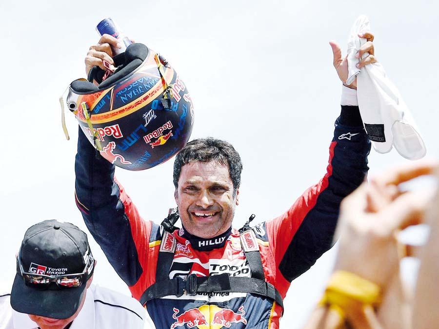El piloto qatarí, el príncipe Nasser Al-Attiyah se llevó por tercera vez consecutiva el título (Dakar 2019)