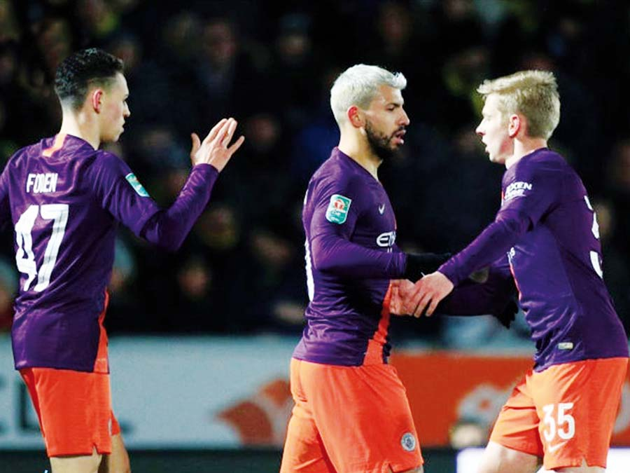 Manchester City venció 1-0 al Burton Albion