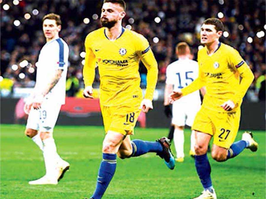 Chelsea goleó 5-0 a Dínamo de Kiev