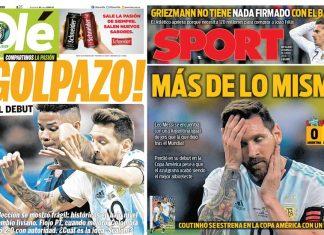 Argentina decepcionó