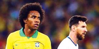 Willian respondió a Lionel Messi