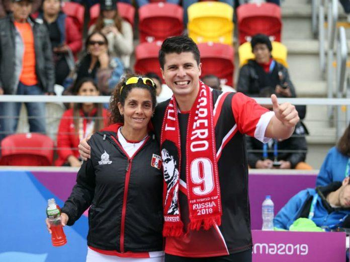 Frontonistas peruanos Claudia Suárez y Kevin Martínez