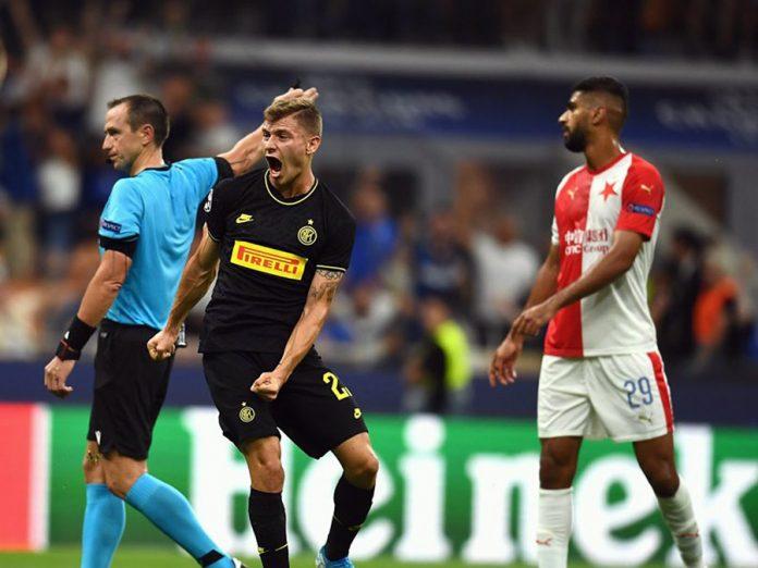 Inter evitó un papelón al empatar en la última jugada con Slavia Praga