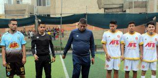 José Luis Carranca da el play de honor en el partido que jugaron Venezuela (Aguilas Santa Ana) y Bolivia (AFE Cosmos) - Copa Todo Sport