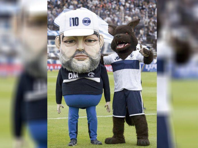 Mascota de Maradona