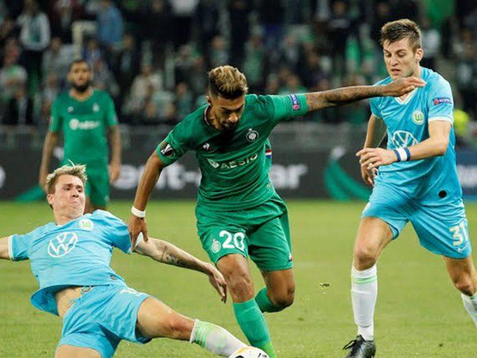 Saint-Éttiene sin Trauco en cancha igualó 1-1 ante Wolfsburgo