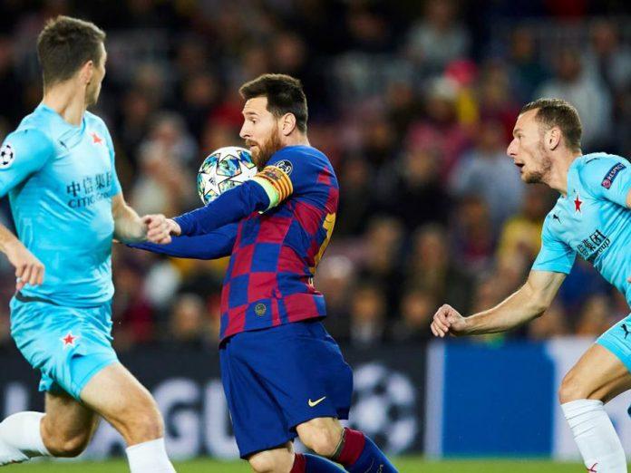 Barcelona empató 0-0 con Slavia Praha
