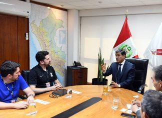 Ministro del Interior, Carlos Morán, se reunió con autoridades deportivas