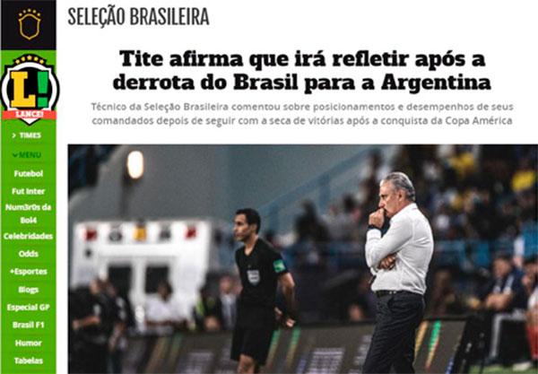 Los medios brasileños fueron duros con Tité y con Brasil que suma 5 partidos sin ganar
