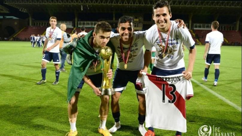 Torrejón fue campeón con su club FC Banants en Armenia