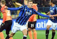 Atalanta de Italia clasificó a octavos de final al golear 3-0 a Shakhtar Donetsk