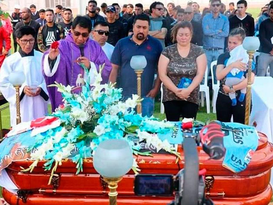 Funeral del jugador de Binacional, Juan Pablo Vergara