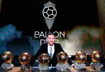 Leionel Messi obtuvo su sexto Balón de Oro
