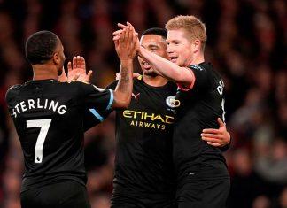 Manchester City goleó por 3-0 al Arsenal en el Emirates Stadium