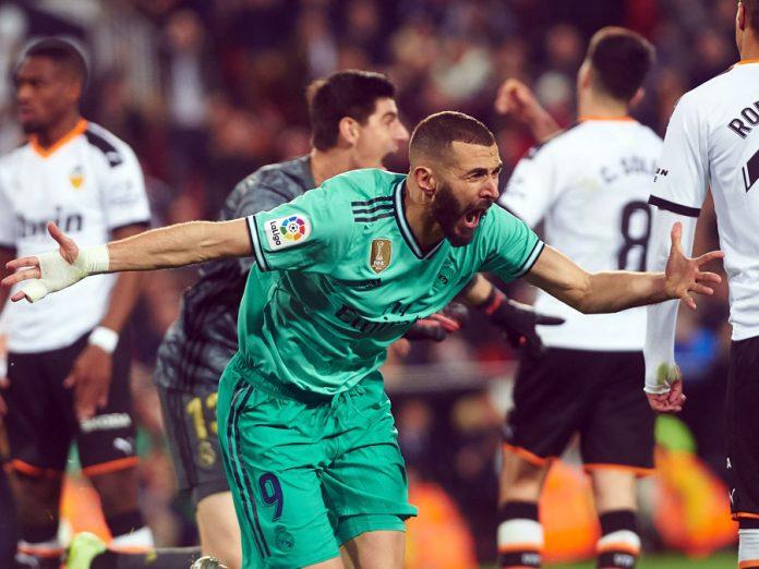 Real Madrid en el último minuto empato 1-1 con Valencia