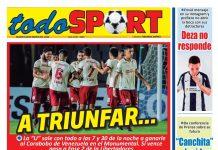 Portada impresa – Diario Todo Sport (28/01/2020)