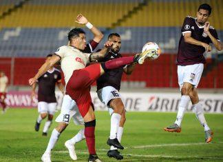 """La """"U"""" empató 1-1 con Carabobo en Puerto Ordaz con gol de Jonathan Dos Santos"""
