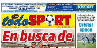 Portada impresa – Diario Todo Sport (20/01/2020)