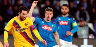 Barcelona y Napoli empataron 1-1 en el estadio San Paolo por el duelo de ida de los octavos de final de la Champions League