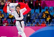Taekwondista Angélica Espinoza