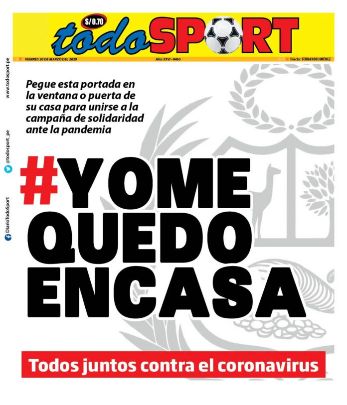Portada Todo Sport 20-03-2020