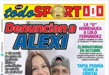 Portada impresa – Diario Todo Sport (21/05/2020)