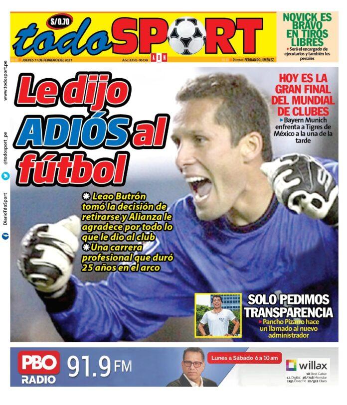 Portada Todo Sport 11-02-21