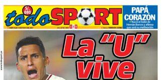 Portada impresa – Diario Todo Sport (19/05/2020)