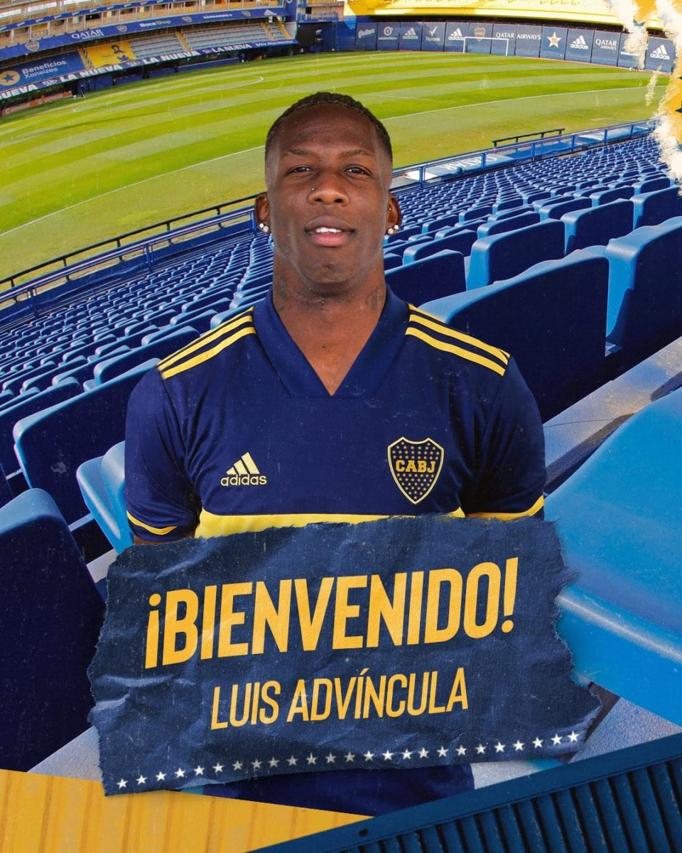 Luis Advíncula ya es nuevo jugador de Boca Juniors