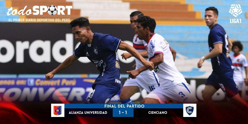 Liga 1 2021: Cienciano empató 1-1 con Alianza Universidad