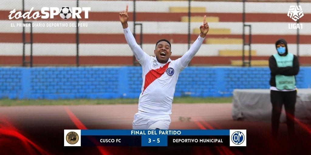 Liga 1 2021: Deportivo Municipal venció 5-3 a Cusco FC