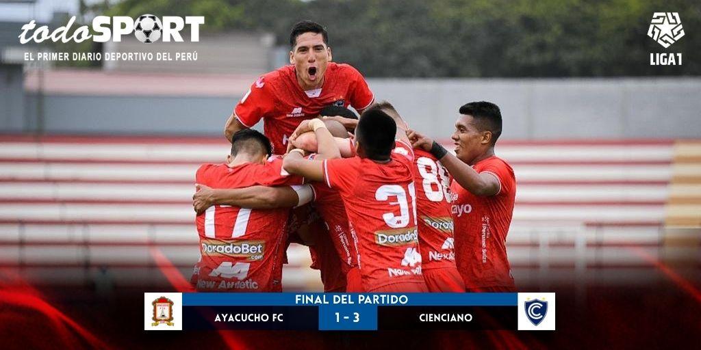 Liga 1 2021: Cienciano venció 3-1 a Ayacucho FC