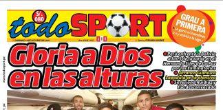 Portada impresa Todo Sport